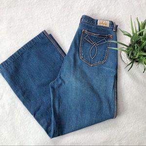 Vintage 1970s Britannia High Waisted Wide Leg Jean